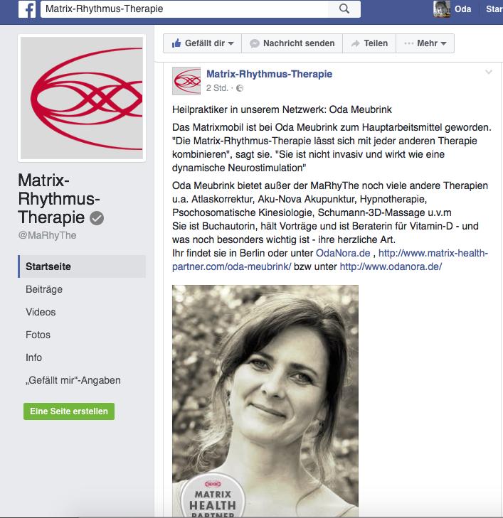 Post von Matrix-Rhythmus-Therapie  im Facebook